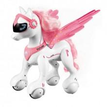 Робот лошадка на радиоуправлении с пультом для девочки Riley A009 бело розовый