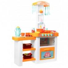 Детская кухня Induction Cooker Bambi вода звук свет 889-63-64 бело оранжевая