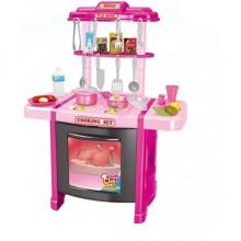 Детская кухня со звуком и светом 922-14-15 розовая