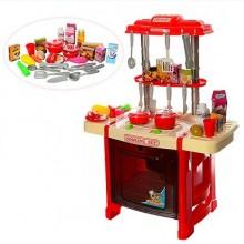 Детская кухня со звуком и светом 922-14-15 красная