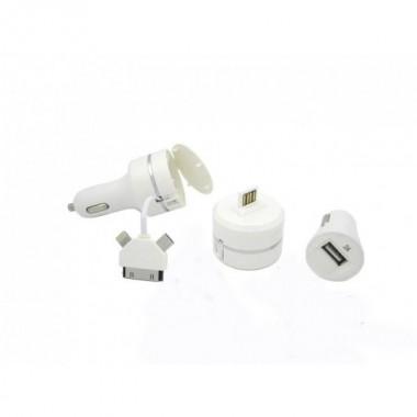 Автомобильное зарядное устройство Car Charger USB выход + кабель рулетка 3 в 1