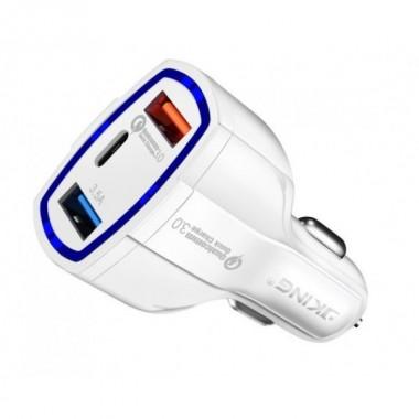 Автомобильная зарядное устройство Quick Charge 3.0 SY-KC368 белый