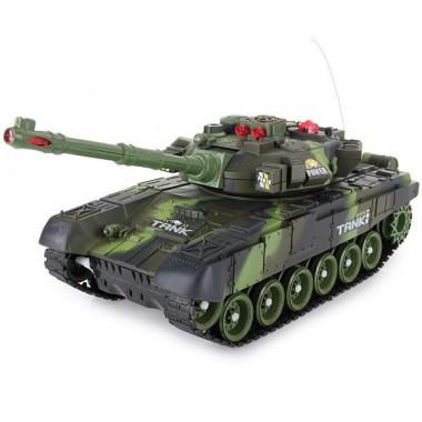 Танк на радиоуправлении боевой TG 936496 R/9995 зеленый камуфляж