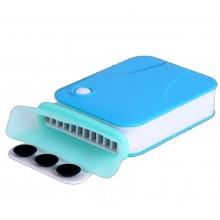 Внешний кулер для ноутбука вакуумный Zha-0275 бело-голубой