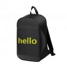 Рюкзак Антивор для ноутбука c LED экраном Biosled B-Rro Водонепроницаемый Wi-Fi USB 24 л Black