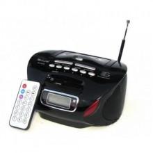 Радиоприемник Магнитофон Бумбокс Колонка с пультом ДУ Golon RX 627Q Black Черный