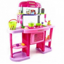 Детский игровой набор для девочки детская кухня KITCHEN Z 661-75 розовый