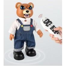 Робот Медведь на радиоуправлении интерактивный USB  зарядное устройство танцует ходит добрый-злой