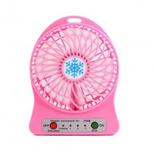Настольный мини вентилятор на аккумуляторе Tofu розовый
