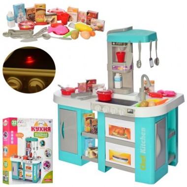 Детская игровая кухня с водой Kitchen 922-46  световые звуковые эффекты 53 предмета