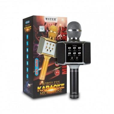 Беспроводной микрофон-караоке Wster WS-868 +FM радио черный