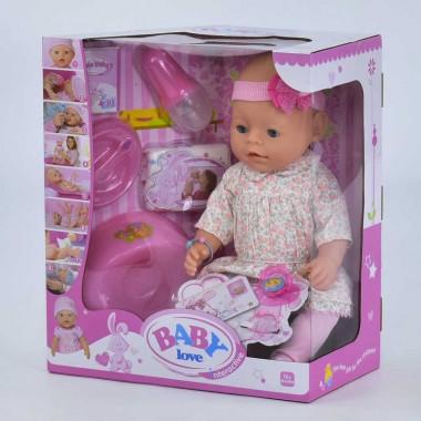 Пупс детский интерактивный BL020V 8 функций с аксессуарами Baby love
