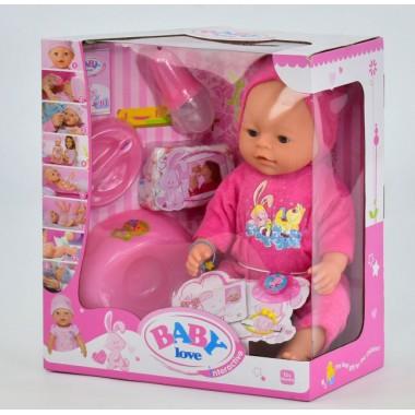 Пупс функциональный кукла игрушка BL023E 8 функций с аксессуарами