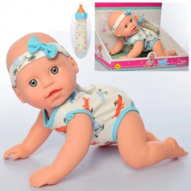 Функциональный пупс кукла 31 см Defa 5101A ползает издает звуки реагирует на хлопки