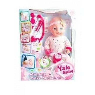 Интерактивный пупс кукла с набором доктора 40 см Baby YL1965F пьет писает