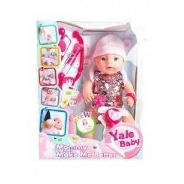 Интерактивный пупс кукла с набором доктора 40 см Baby YL1965I пьет писает