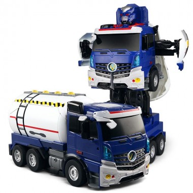 Робот трансформер машина бензовоз на радиоуправлении Jaki JQ6609 свет звук говорит мигает фарами