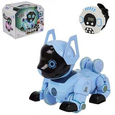 Робот собака на радиоуправление A-Toys Z105 голубой