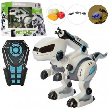 Интерактивный робот-динозавр на р/у limo toy RC0001 кушает ходит в туалет стреляет танцует подвижная челюсть лапы хвост